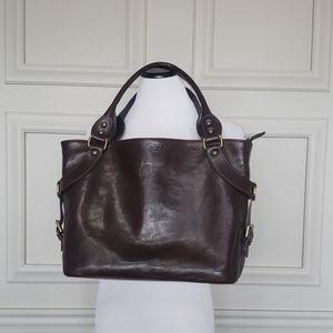 Italian leather carryall purse